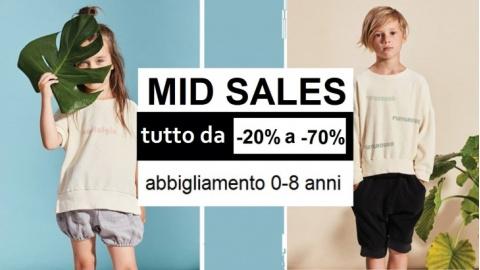 5b36a8e92234 Al via Mid Sales  eccezionali sconti dal 20% al 60% su tutto  l abbigliamento 0-8 anni ...